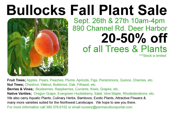 Bullock 39 S Permaculture Nursery Fall Plant Sale Cascadia Forum At Permies