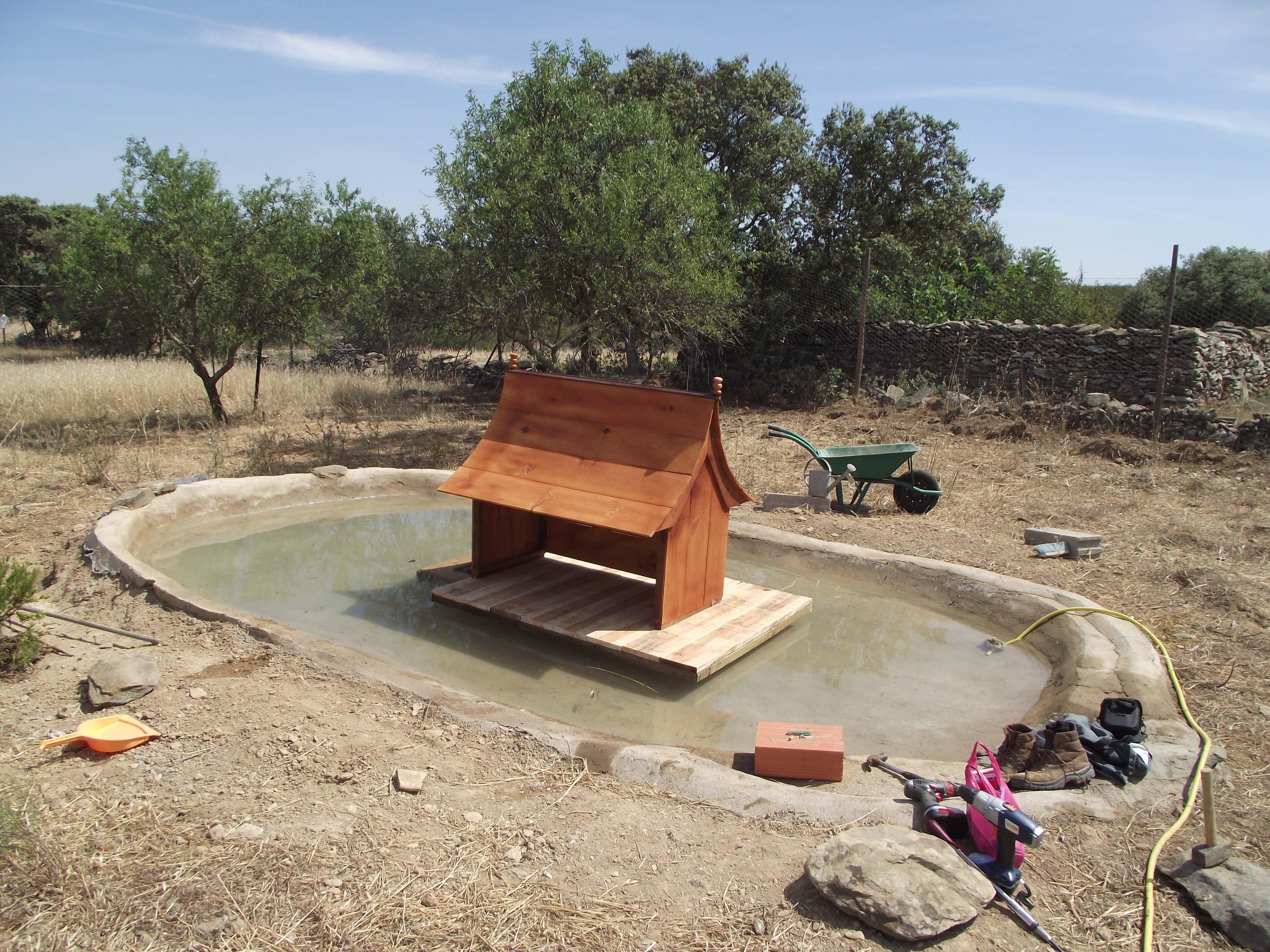 Filename: Ducks Summer House and pond Front.jpgDescription: Duck pond ...