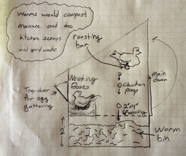 Worm Bin Under Chicken Coop To Catch Droppings Chickens Forum At