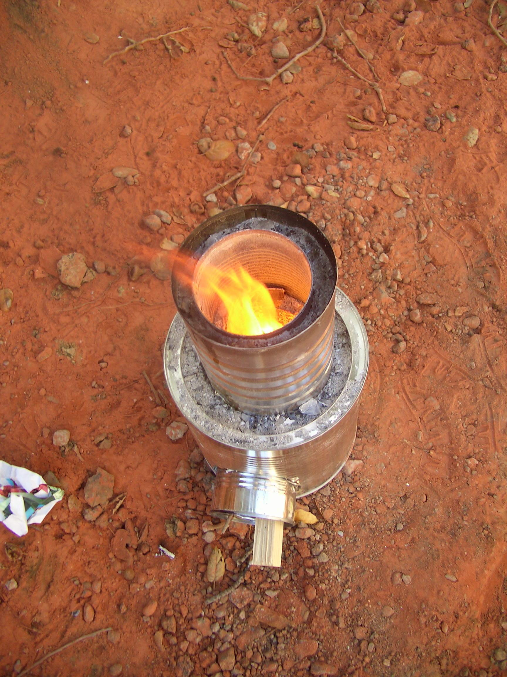 Flat pack rocket stove design for mailing to afghanistan for Best rocket stove design ever