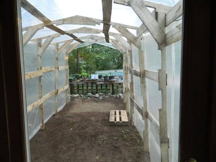 Pallet Greenhouse Greenhouses Forum At Permies