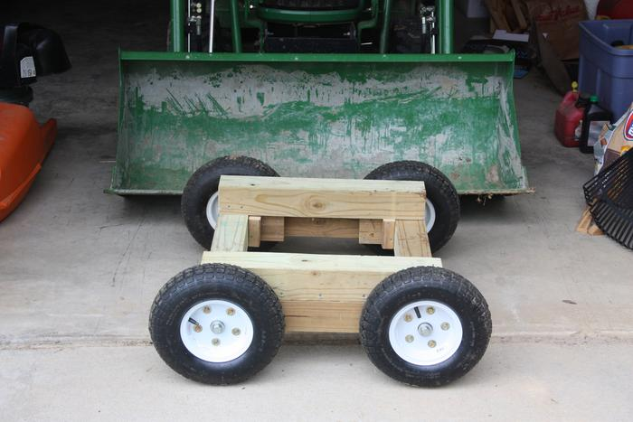 Mini homemade log trailer