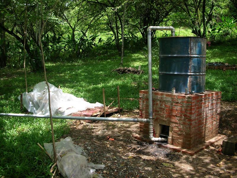 Alterations To Accommodate Pyrolysis Chamber Retort Kiln