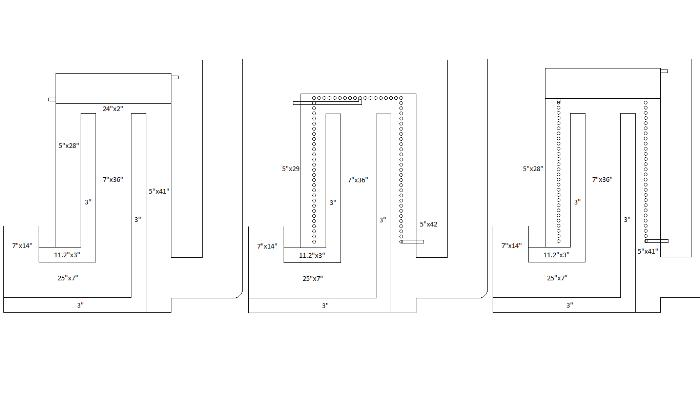 3 different rocket stove water heater designs input for Rocket stove design plans