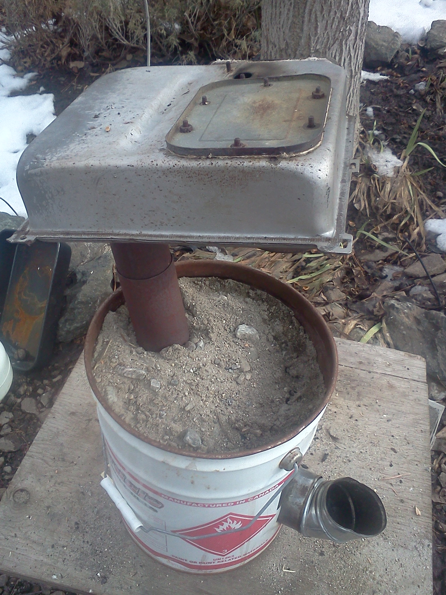 Tiny Rocket Stove In Truck Camper Rocket Stoves Forum At