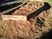 Building a stawbale cabin pier foundation timber frame for Raised pier foundation