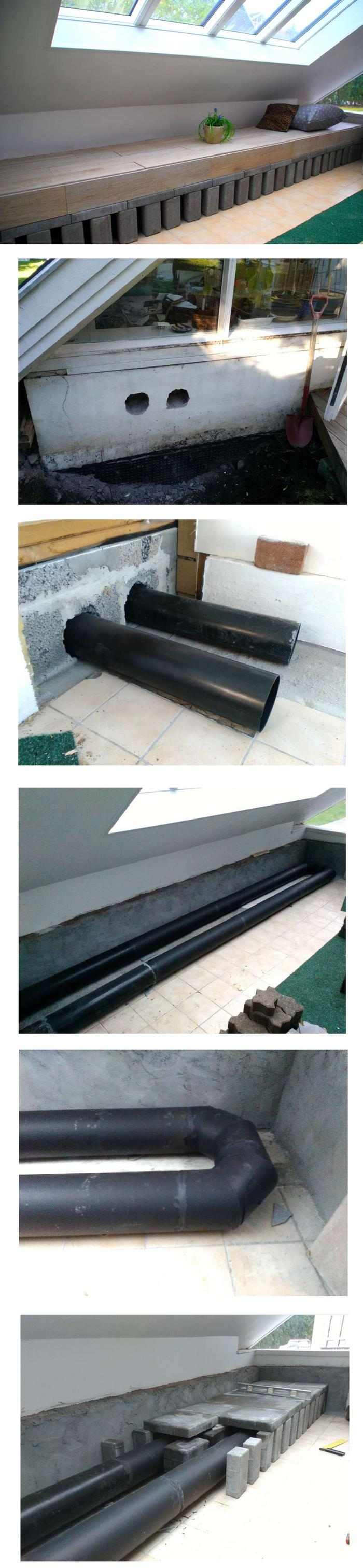 Here is the bench with 1500 kg of mass and the duct beneath