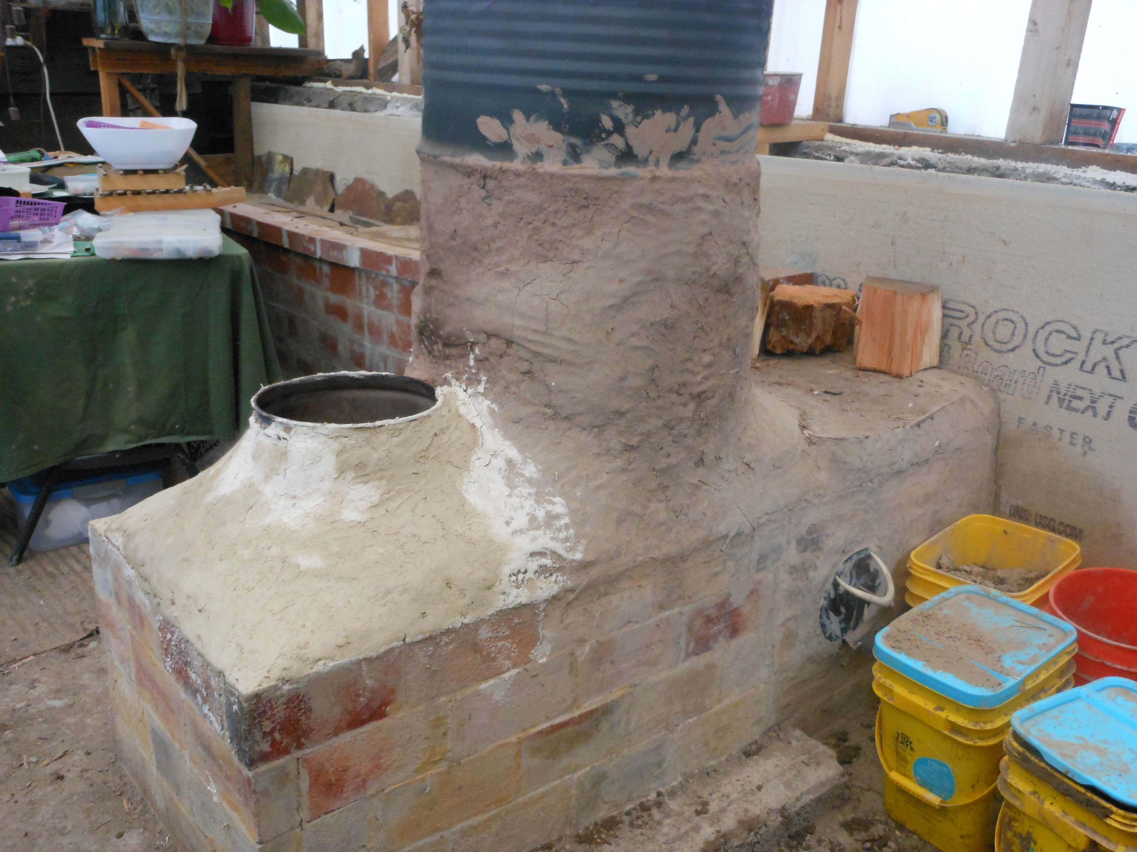 Fire Clay Mortar Mix : Rmh questions and set up in a yurt fire brick heat