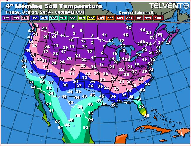 How do you measure soil temperature predictor of pest for Soil temperature map