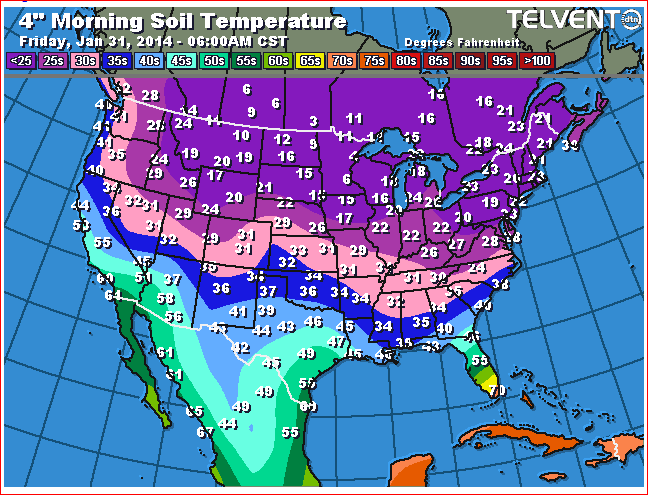 Us Soil Temperature Map How do you measure soil temperature? Predictor of pest emergence