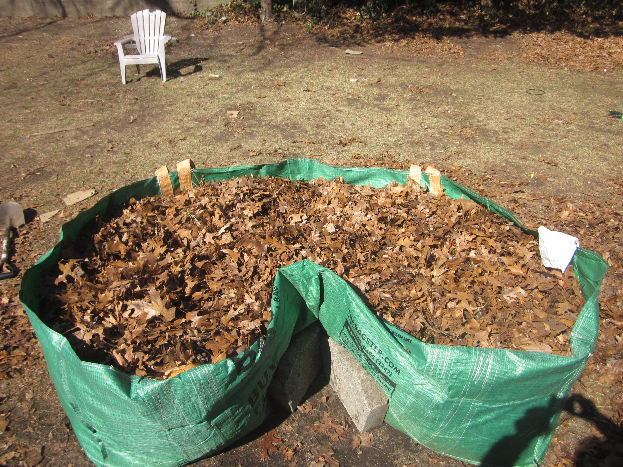 Bagster raised bed garden (soil forum at permies)
