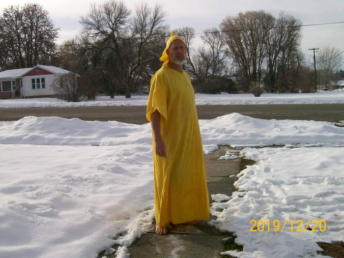 robe dyed with turmeric