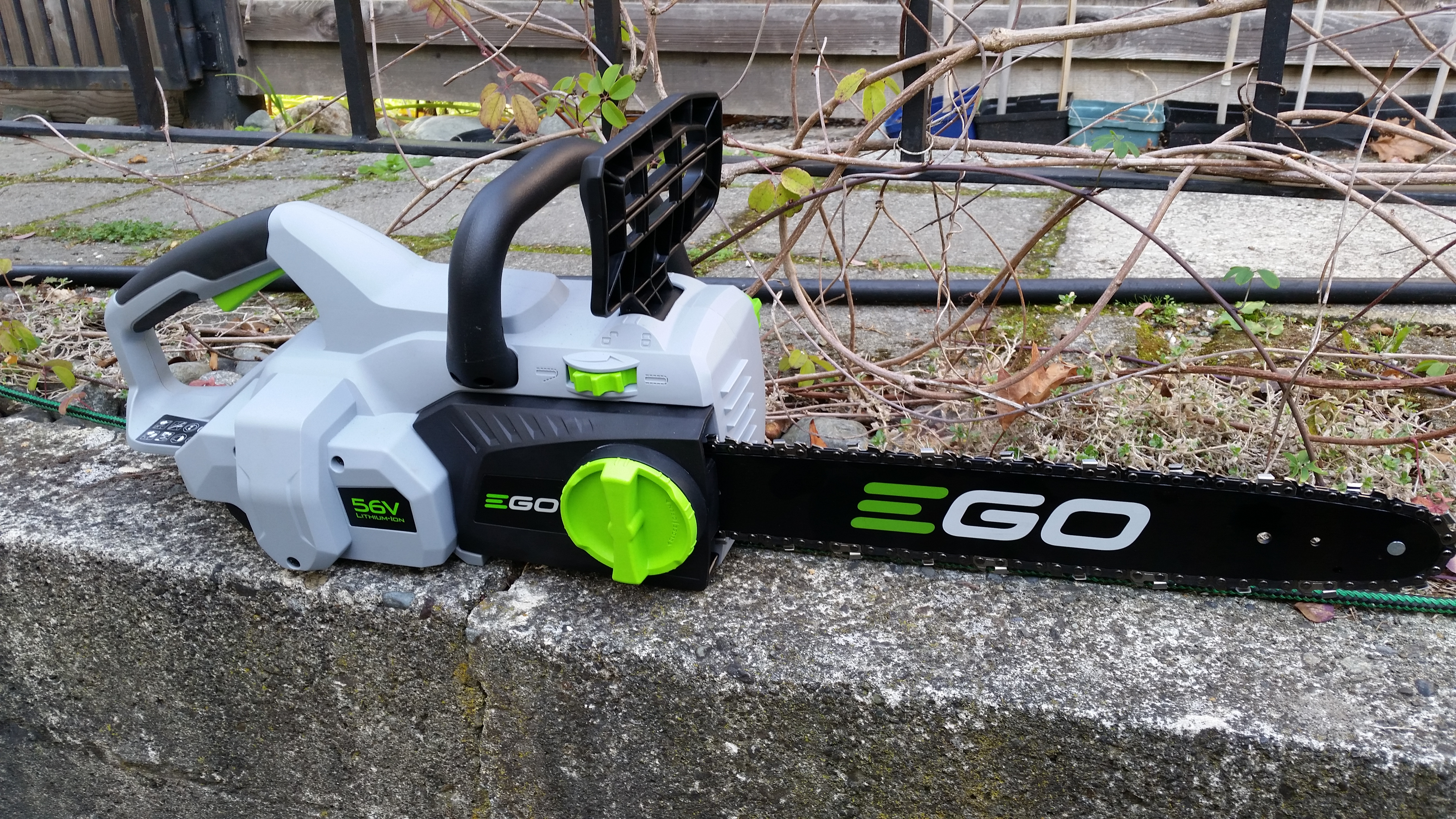 Cordless 56V chainsaw  I tried several and bought the most