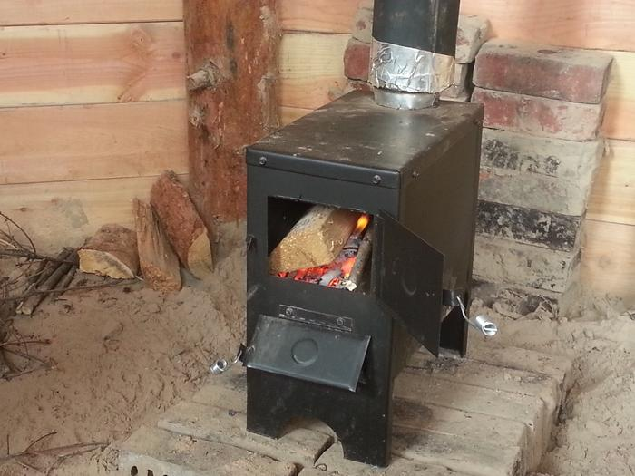 Jim's new woodstove