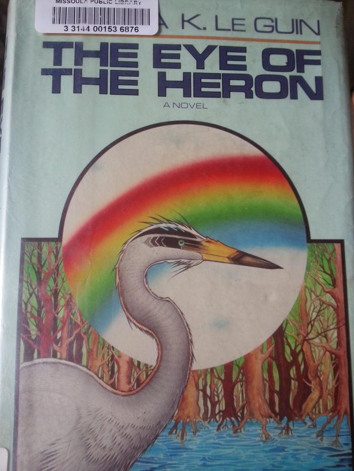 the artist who did this cover art seemingly didn't read the book because the herons in the story are not actual herons at all...