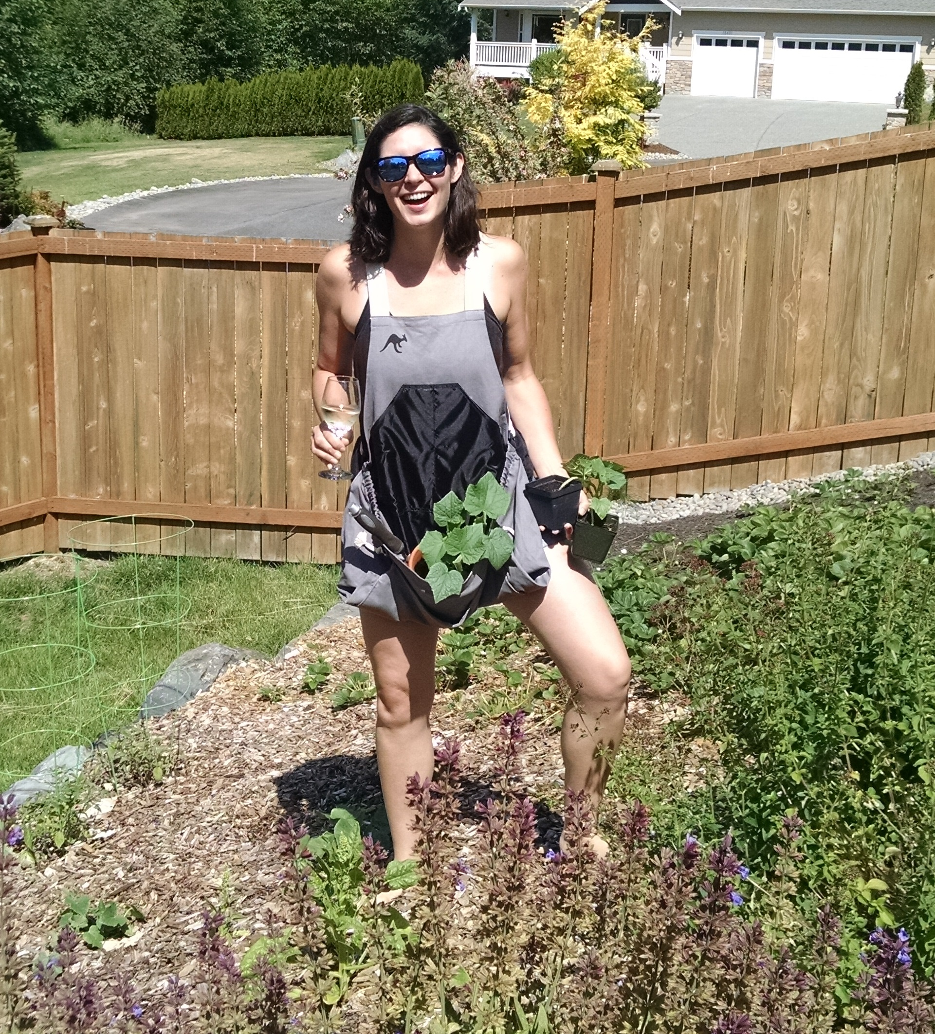 [Thumbnail For Emily_roo_apron_20150616]. Emily In The Roo Gardening  Apron