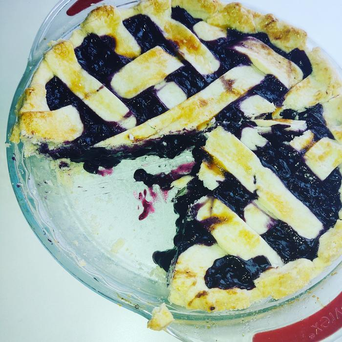 Gluten free blueberry pie