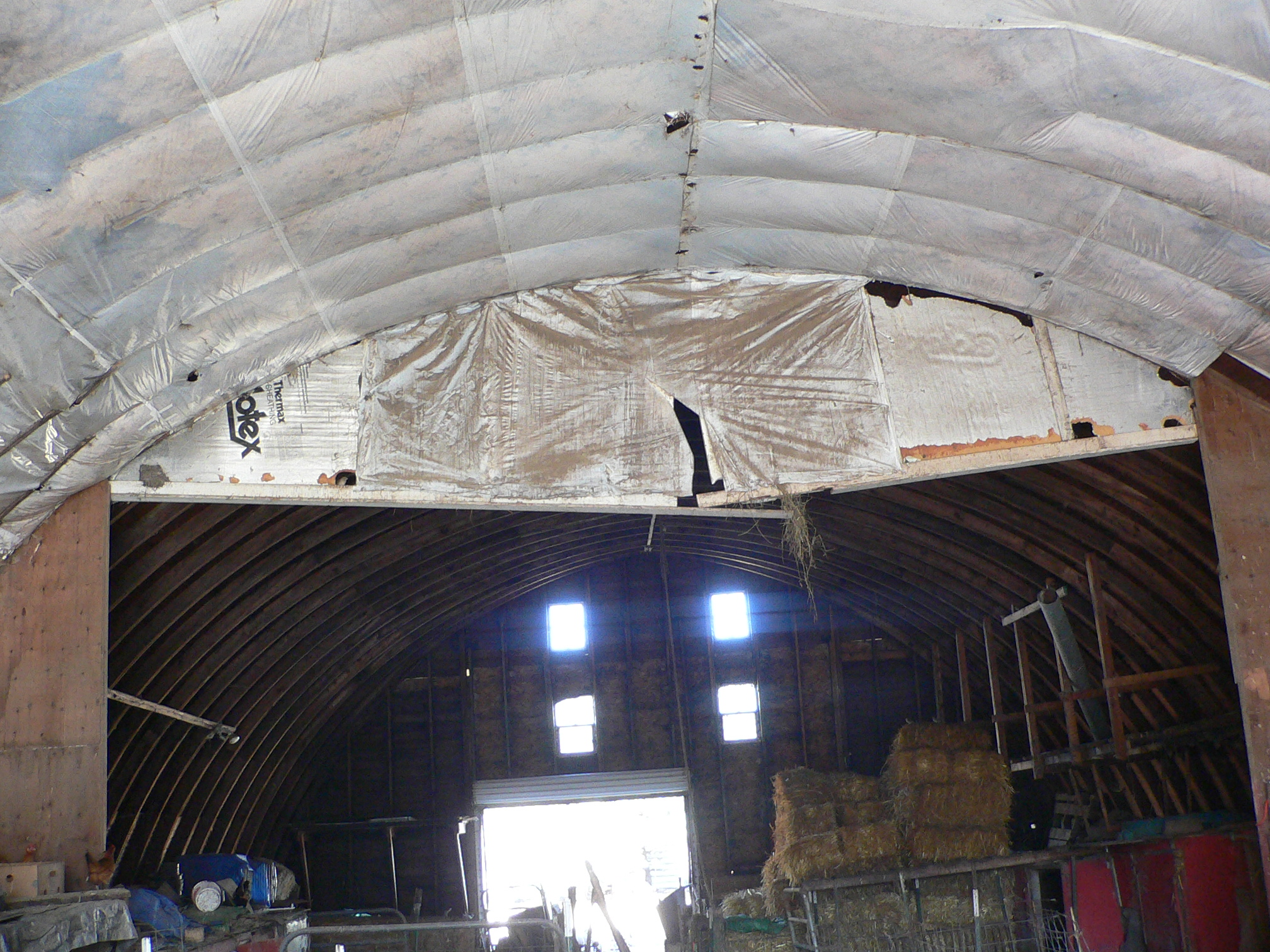 40 X 80 Ft Quonset Roof Sagging In Middle Roundwood