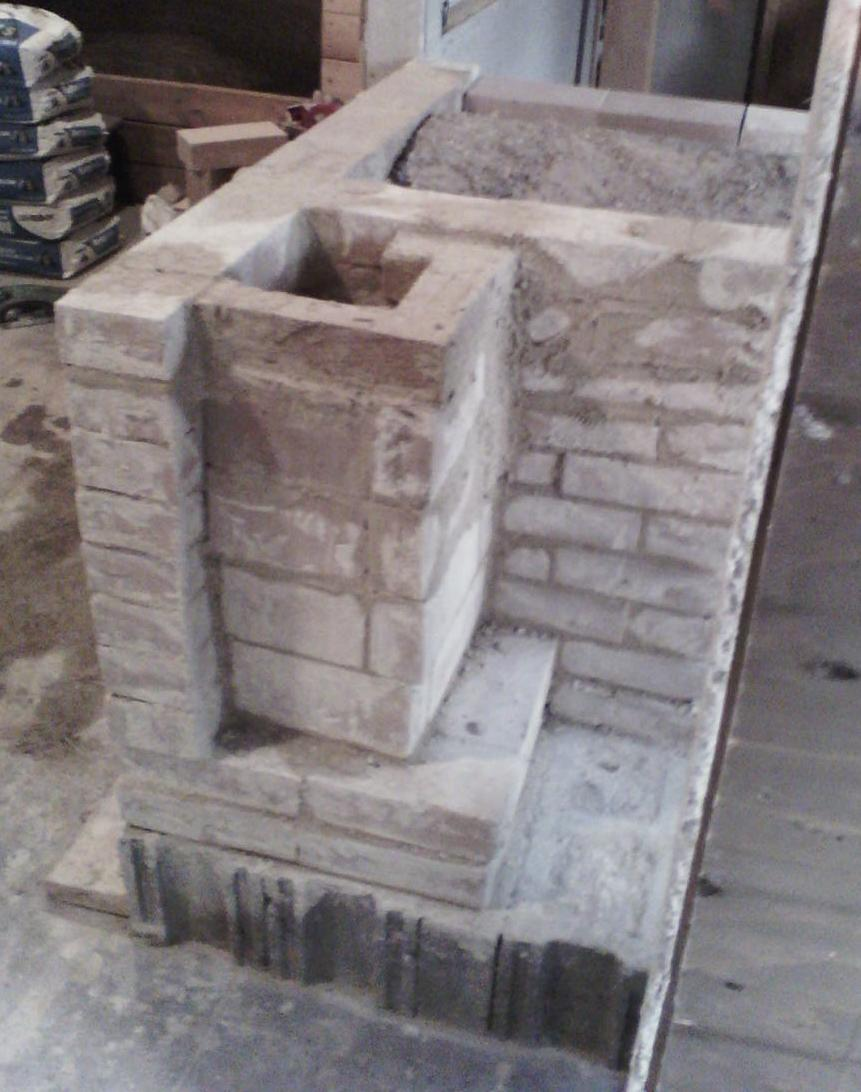 Vortex Fire Box Masonry Shell Heater Build In Large Barn