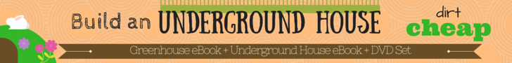Building an underground house - books and DVDs