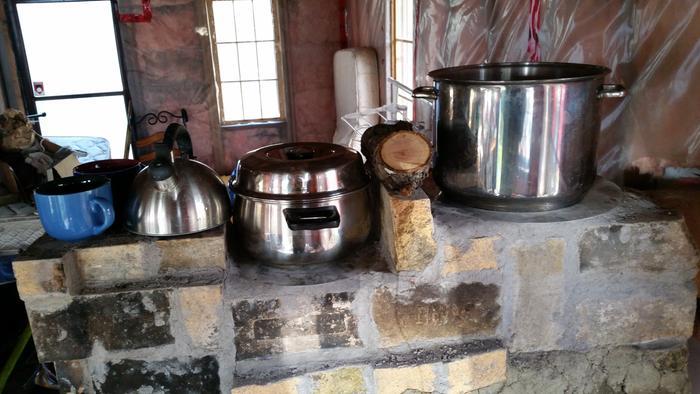 Manual propane coleman oven twoburner