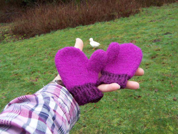 [Thumbnail for baby-toddler-felted-mitten-hand-knit-purple-warm-wool-silk-permaculture.jpg]