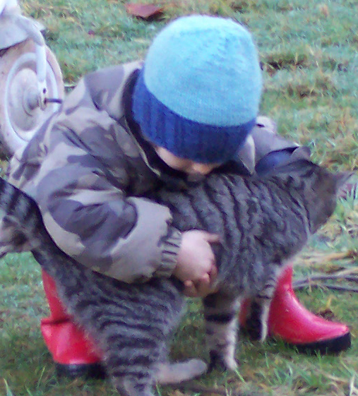 [Thumbnail for kitty-and-hat-toddler-preschooler-knit-blue-warm-wool-silk-permaculture.jpg]
