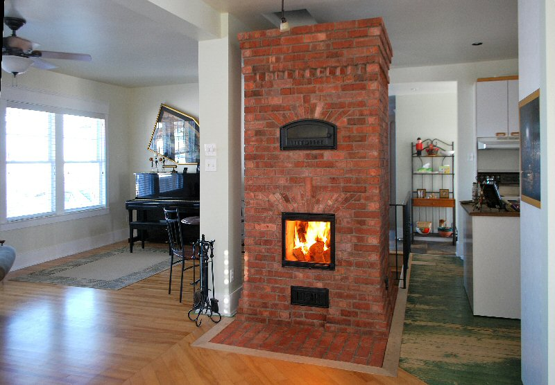 Smallest rocket mass heater wood burning stoves forum at for Whole house wood furnace