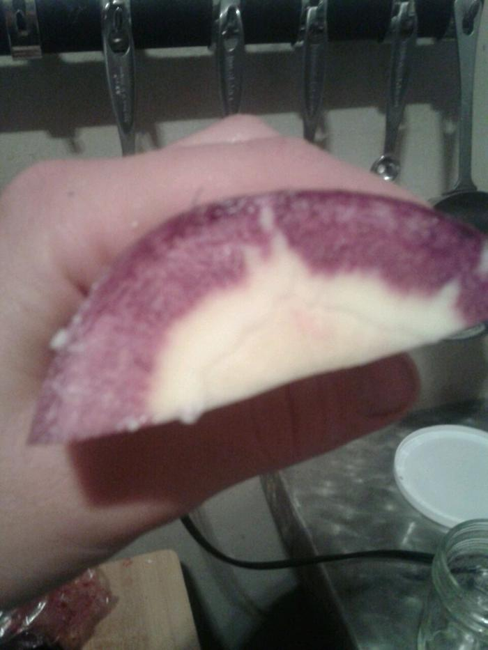 purple and white carrot