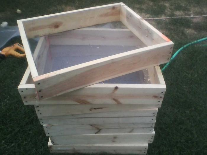 Honey bee quilt boxes.