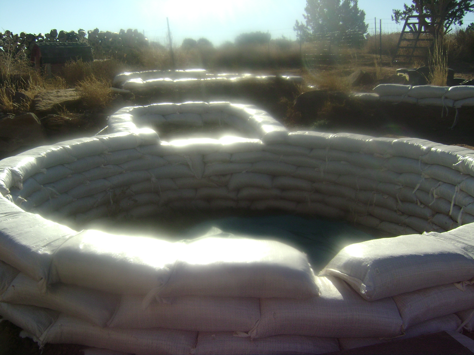 More Pics Of Earth Bag Swimming Pool Ponds Forum At Permies