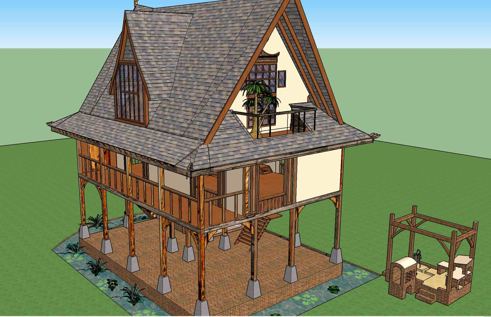 South East Asia Timber Frame In India Roundwood And