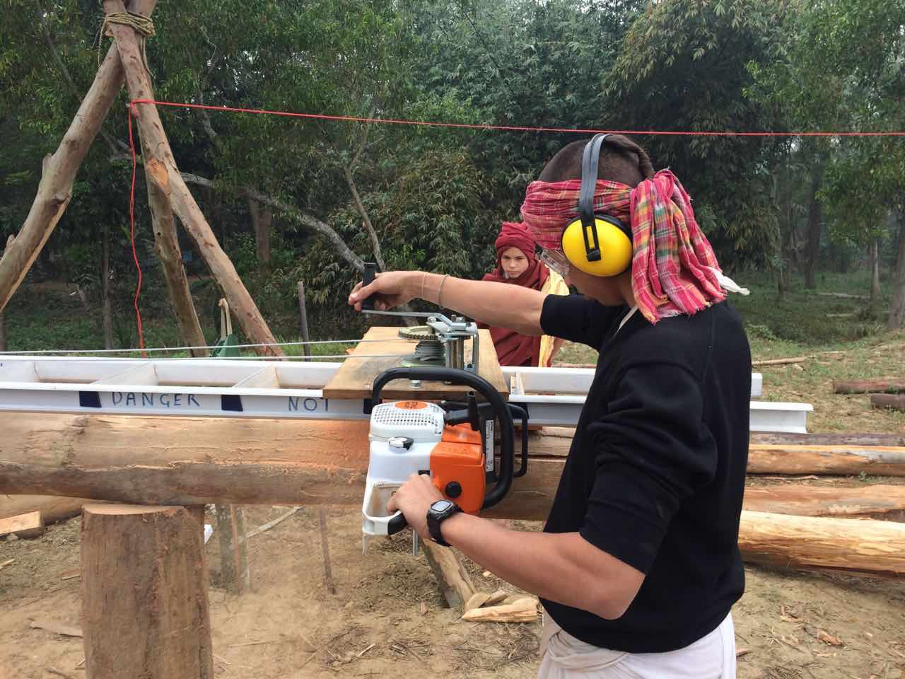 South East Asia Timber Frame in India (roundwood and timber framing ...