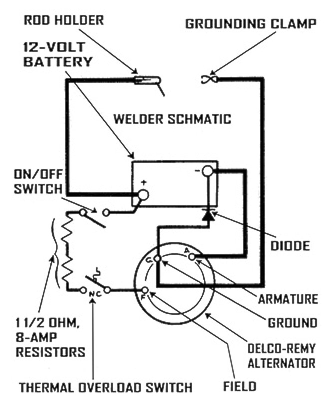 diy mobile arc welding set ups gear forum at permies RS232 Wiring-Diagram thumbnail for tmen portable welder schematic