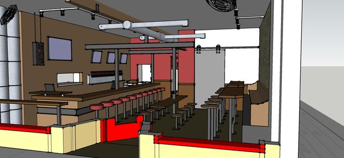 A custom restaurant expansion for my neighborhood joint, 600 Degrees Pizzeria and Drafthouse.