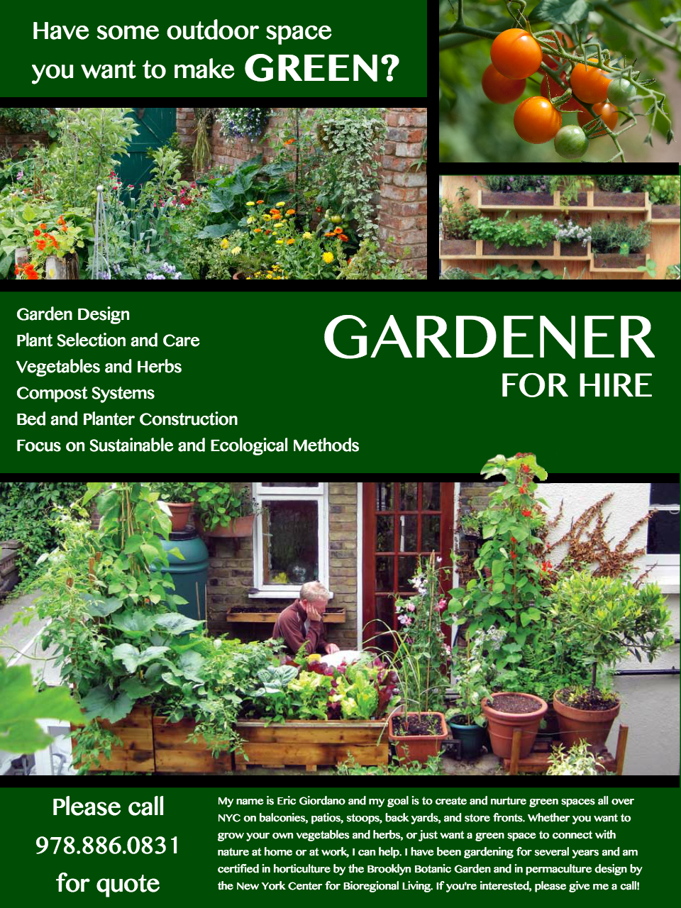 need feedback on this flyer for gardening services