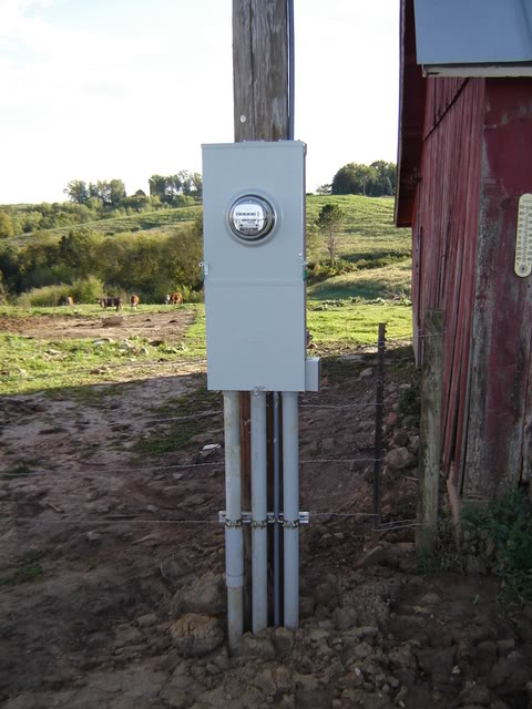 Remote Electrical Meter Service Permanent : Electricity to a build site natural building forum at