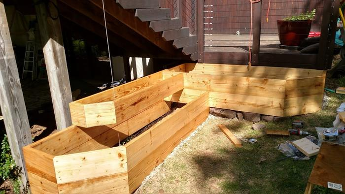 raw linseed oil on raised beds