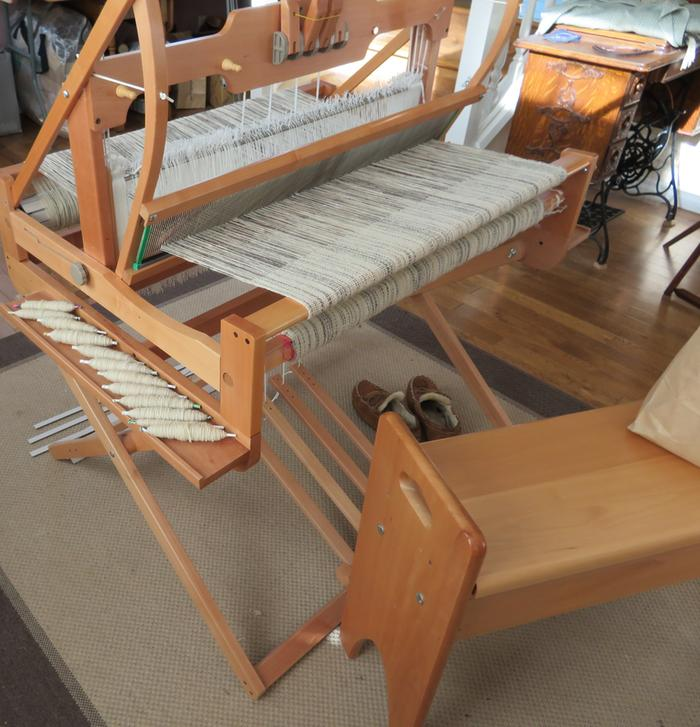 ashford table loom with treadle stand