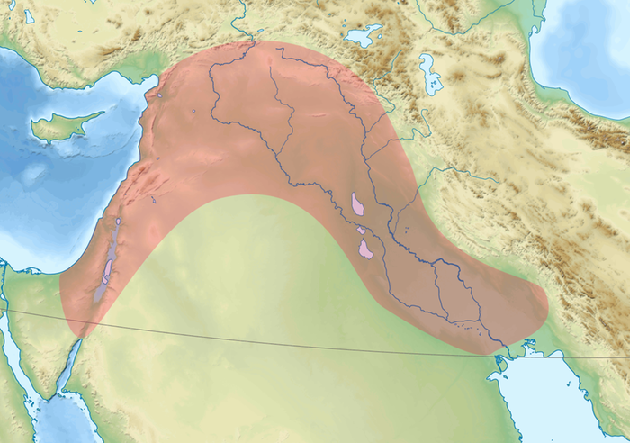 Fertile Crescent by Rafy WikiMedia.org