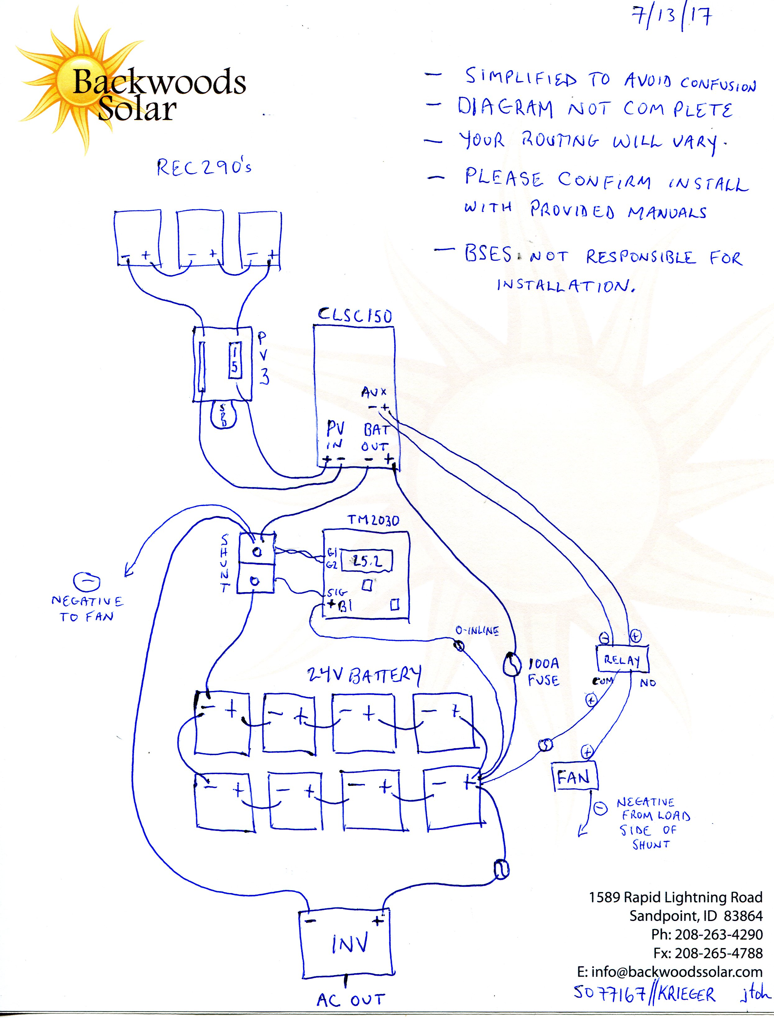 image solar noob seeks advice, offgrid two months now (electrical forum backwoods solar com for wiring diagrams at soozxer.org