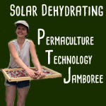 solar dehydrating at permaculture technology Jamboree