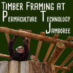 timber framing at permaculture technology jamboree