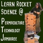 building brick rocket stove Permaculture Technology Jamboree