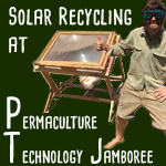 solar glass recycling at permaculture technology jamboree