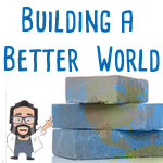 Building a Better World Book with earth bricks