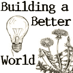 Building a Better World book,sketch of dandelion and lightbulb