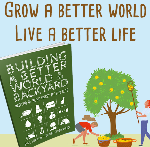 Building a Better World Book with people picking apples
