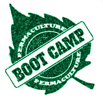permaculture bootcamp design with leaf