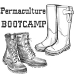 permaculture bootcamp sketch of boots